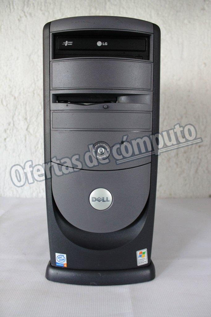 Procesador Intel P4 2.4 ,Bus 533MHZ, Cache L2  1MB, Unidad DVD-ROM,  Disco Duro 40 GB IDE  5400 R.P.M, Memoria RAM 512MB RIMM, Puertos: 4 USB  atrás 2 USB frontales, VGA, Enthernet RJ45, 1 Paralelo, 1 Serial, 2  PS2, Conexiones de aundio, Teclado y mouse, S.O Windows XP PRO.