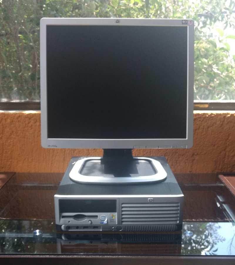 1 HP  DC 7700  CORE DUO CON LCD 17